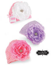 Mud Pie Baby Buds Mesh Jeweled Flower Hat  Pink White Purple - DISCONTINUED
