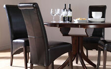 Dark Hudson & Boston Round Extending Dining Table and 4 6 Chairs Set (Brown)