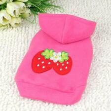 Dog Hoodie Sweater Pink Strawberry Coat Puppy Pet Clothes Jacket  Apparel E55