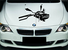 Wall Vinyl Sticker Decal Abstract Racing Antique Car Road Crush Decor (M004)