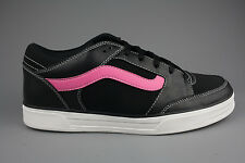 Vans Mens/Womens/Girls/Unisex Leather Black/Neon Pink  TNT Skate Shoes Trainers