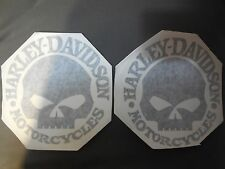 SET OF HARLEY DAVIDSON TANK DECALS BLACK IN COLOR ( 6 inches in diameter )