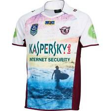 Manly Sea Eagles NRL 2015 Kids Auckland 9's Jersey Sizes 8 - 14! BNWT's! NEW!