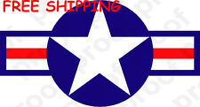 FREE SHIPPING USAF US AIRCRAFT STAR STICKER MAGNET  BANNER