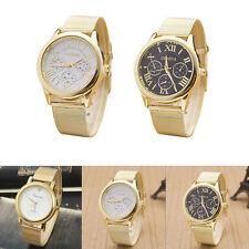 Fashion Lady Style Gold Classic Womens Watch Quartz Stainless Steel Wrist Watch
