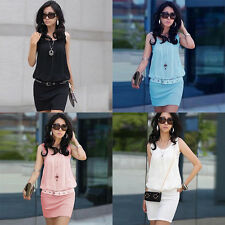 Summer Dress in woman clothing round neck casual Chiffon party Dress