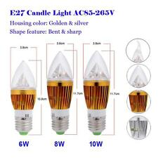 6W 8W 10W E27 High Power LED Chandelier Candle Light Spotlight Bulb Lamp 85-265V