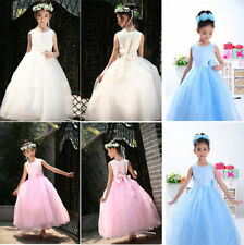 2015 New Girls Flower Princess Bridesmaid Party Prom Wedding Christening Dresses