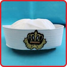 KIDS CHILDRENS/ADULTS NAVY SAILOR HAT-POPEYE-GOB-YACHT-BOAT-SEA-COSTUME-BADGE1