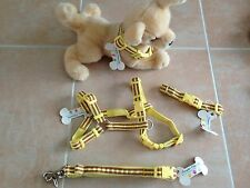 Douglas Paquette Dog Collars, Leads or Harnesses - Yellow Stripe Style