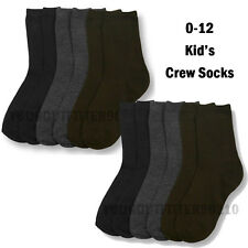 12 Pairs Baby & Toddler 0-12 Crew High Sports Socks Multi Color boys girls Kid's