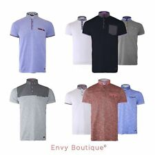 BRAVE SOUL MENS STYLISH FASHION NECK POLO T-SHIRT SHORT SLEEVE POCKET SHIRT S-XL