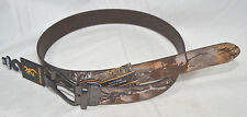 """Mens Reversible Browning Brown Leather Realtree & Camo Belt  34 36 38 or 40"""""""