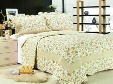 66- All For You 3PC quilt set, bedspread and coverlet- reversible