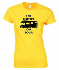 MOTORHOME TOUR LADIES FITTED T-SHIRT PERSONALISED CAMPING TSHIRT CAMPER T SHIRT