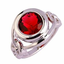 Saucy Ruby Spinel Gems Silver Jewelry Fashion Women Ring Size 6 7 8 9 10 11 12