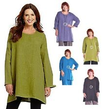 BRYN WALKER USA  HEAVY-weight Linen JAIDEN TUNIC A-Line Top  S  M L XL  4 COLORS