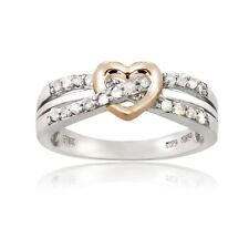 Sterling Silver 1/5ct TDW Diamond Heart Promise Ring