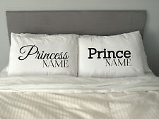 CUSTOM (Put your own) PRINCE & PRINCESS Pillow Case  Text design Funny Gift m21