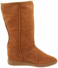 New Women's Skechers 48110 Skch Plus 3 Doe Eyed Chestnut Suede Mid-Calf Boots