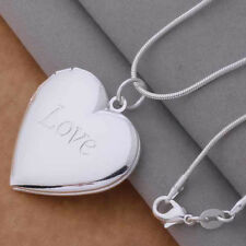 Necklace Love Heart Shaped Silver Plated Sweetheart Girlfriend Pendant