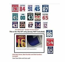 NHL Sewn Kit for Your Hockey Jersey (With Any Name and Number of your choice)