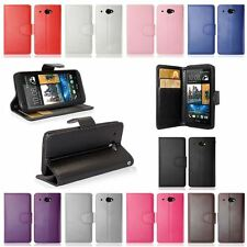 Colour PU Leather Wallet Flip Mobile Phone Case Cover For HTC Desire 601