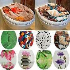 12 pattern Toilet Seat Stickers Bathroom Decor Lid Seat Cover Decal Decor PVC