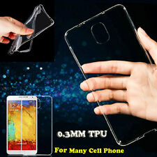 1Pc Ultra Thin Crystal Clear Soft TPU Back Case Cover Skin For Cell Phone Models