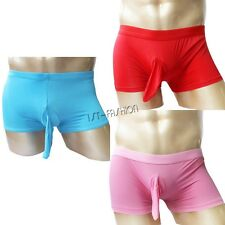 Sexy Boxer Briefs Stretch Thong Underwear Shorts Closed Penis Trunks Underpants