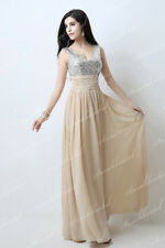 Free Ship Sequins Top Long Wedding Party Evening Gowns Prom Bridesmaid Dresses