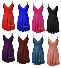NEW WOMENS LADIES STRAPPY FLARED SWING MINI TOP PARTY SHORT DRESS  PLUS SIZE8-22