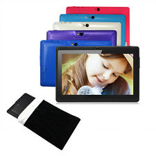 """7"""" Quad Core Tablet PC 8GB Google Android 4.4 Capacitive WiFi Dual Cam W/ Pouch"""