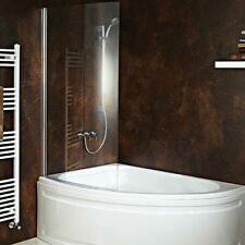 """Carolina"" Corner Bath with Hinged, Curved Shower Screen (Front Panel Included)"