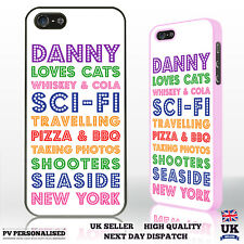 Personalised Custom Printed Text Word Art Image Phone Case Cover Phone Range