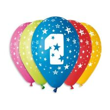 Birthday Balloons with print.  Ages from 1 to 60.  Pack of 10,  Assorted colours