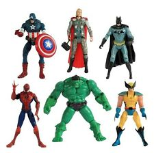 SUPER HERO ACTION FIGURE Hulk Thor BATMAN SPIDERMAN WOLVERINE CAPITAN AMERICA UK