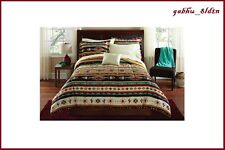 Southwest Turquoise Native American Pattern Comforter Set 8Pc Bedding Queen/King