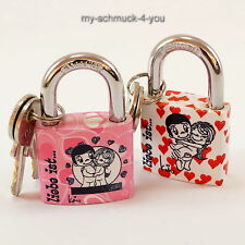 Love lock Love is... Padlock with Your desired text - Engraved