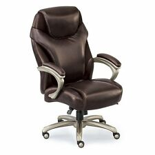 Avanti Big Tall Leather and Faux Leather Executive Chair - 350 lb Capacity