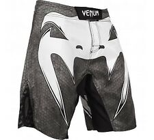 Venum Amazonia 4.0 Fight Shorts (Black/White) - bjj mma ufc