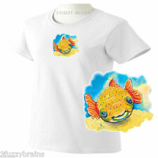 Colorful Cute Baby Porcupine Puffer Fish Ladies Classic Fit White T Shirt