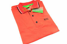 Hugo Boss Modern Fit Short Sleeve Polo Shirt in Coral Color. Size M L XL 2XL 3XL