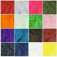 240cm Wide Plain Coloured Polycotton Sheeting Fabric Craft Material