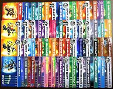 SKYLANDERS Swap Force TRADING CARDS choose from 57 different characters! A-Q