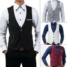Men fashion Slim Fit Vest Three Buttons Casual Vest Waistcoat Tops