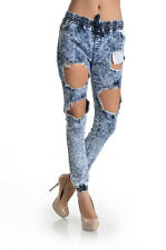 Women Plus Size High Waist distressed Ripped Denim Jeans