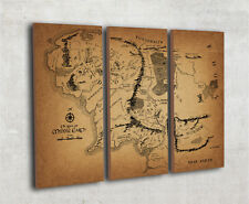 Map Of Middle Earth Lord of the rings map, Middle earth wall map, canvas print