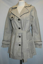 La Redoute Ladies Trench Coat Mac Belted Size 10/12 & 18/20 Light Grey BNWT