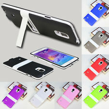 W/Stand Silicone Rubber Case Cover Skin Ultra Slim Glossy For LG Optimus G2 G3